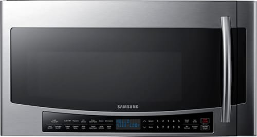 Samsung MC17J8000CS - 1.7 cu. ft. capacity over-the-range microwave - Front view