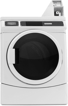 "Maytag Commercial Laundry MDE28PDCYW - 27"" Commercial Electric Dryer, Coin Box Ready"