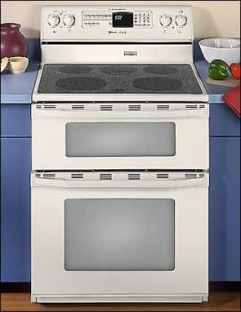Maytag Mer6772baq 30 Inch Freestanding Double Oven