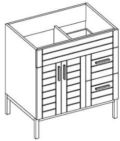 Empire Industries Metropolitan Collection MK3012WM - Right Side Drawers