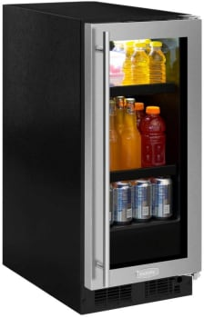 Marvel ML15BCG2RS - Undercounter Beverage Center from Marvel (Glass Door with Stainless Panel Model is Shown Here)