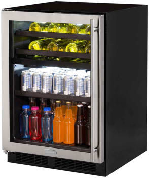 Marvel ML24WBF2LP - Dual Zone Wine and Beverage Center, Right Hinge Door Swing