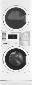 "Maytag Commercial Laundry MLE20PDCYW - 27"" Commercial Energy Advantage Washer & Dryer Coin Drop Laundry Center with Microprocessor Controls"