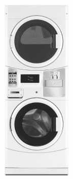 "Maytag Commercial Laundry MLG20PDCWW - 27"" Maytag Commercial Energy Advantage Stacked Washer & Gas Dryer with Microprocessor Controls, Coin Drop Ready"