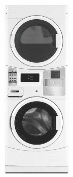 "Maytag Commercial Laundry MLE20PRCYW - 27"" Commercial Electric Laundry Center with 3.1 cu. ft. Washer and 6.7 cu. ft. Dryer"