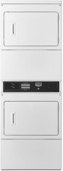 "Maytag Commercial Laundry MLG26PRBWW - 27"" Maytag Commercial Single-Load Super-Capacity Card-Reader Ready Stacked Gas Dryers with Microprocessor Controls"