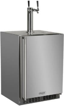 "Marvel Outdoor Series MO24BSS2RS - 24"" Outdoor Twin Tap Beer Dispenser (available as Single Tap unit!)"