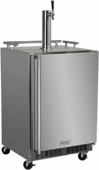 "Marvel Outdoor Series MO24B - 24"" Outdoor Single Tap Beer Dispenser with Casters and Mug Rail (also available as Twin Tap unit!)"
