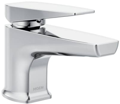 Moen Via S8001 - Via chrome one-handle low arc low profile bathroom faucet