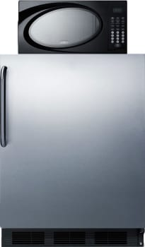 Summit MRF663BSSTB - This combination refrigerator-freezer-microwave serves all your kitchen needs in a slim 24 inch wide fit.