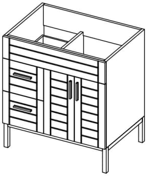 Empire Industries Metropolitan Collection MS3622WMPL - Left Side Drawers