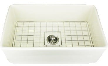Nantucket Sinks Cape Collection TFCFS30B - Fireclay Undermount Sink in Bisque from Nantucket