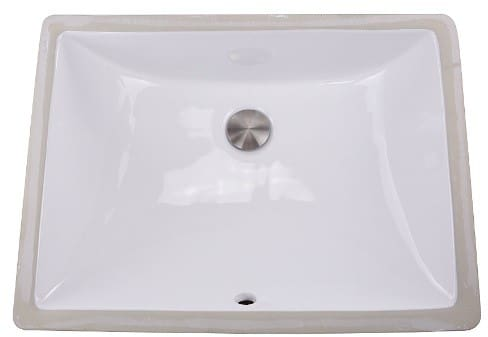 Nantucket Sinks Great Point Collection UM18X13W - Undermount Bathroom Sink from Nantucket