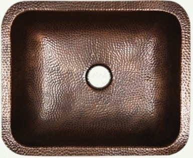 Nantucket Sinks Brightwork Home Collection REHC - Solid Copper Bathroom Sink