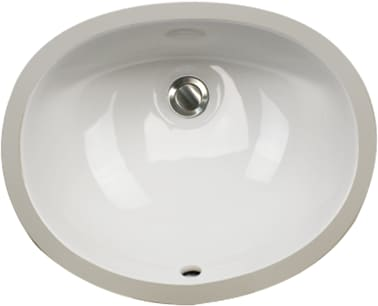 Nantucket Sinks Great Point Collection UM15X12 - Undermount Bathroom Sink from Nantucket - White