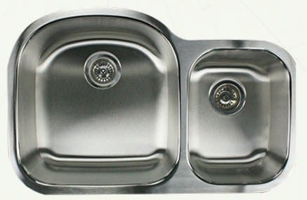 Nantucket Sinks Quidnet Collection NS7030X16 - Model No. NS703016: Small Bowl on Right