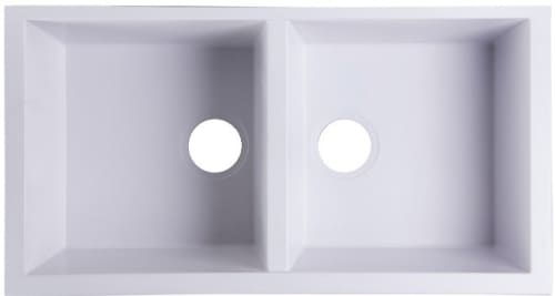 Nantucket Sinks Plymouth Collection PR3418W - Undermount Kitchen Sink in White from Nantucket