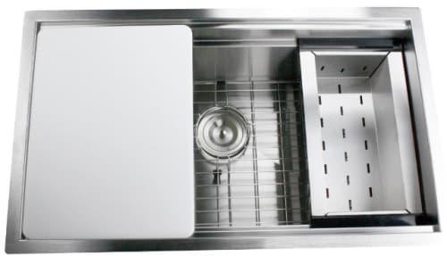 Nantucket Sinks Pro Series ZRPS301816 - Prep Station Sink