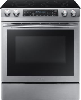 "Samsung NE58K9430SS - 30"" Slide-in Electric Range with 5.8 cu. ft. Dual Convection Oven and Flexible Burner Cooktop"