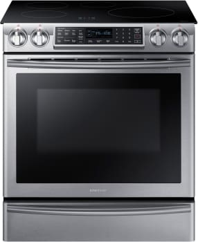 Samsung NE58K9560WS - 5.8 cu. ft. Slide-In Induction Range with Virtual Flame Technology