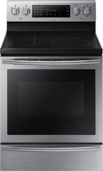 "Samsung NE59J7650WS - 25"" Freestanding Electric Range with 5.9 cu. ft. True Convection Oven"
