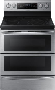 Samsung NE59J7850WS - 30 Inch Freestanding Electric Flex Duo Range with 5 Radiant Elements
