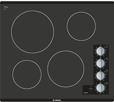 "Bosch 500 Series NEM5466UC - 24"" Electric Cooktop with 4 Heating Elements"