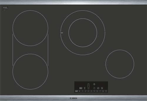 "Bosch 800 Series NET8068SUC - 30"" Electric Cooktop, 800 Series - Black with Stainless Steel Frame"