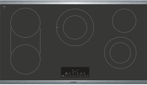 "Bosch 800 Series NET8668SUC - 36"" Electric Cooktop, 800 Series - Black with Stainless Steel Frame"