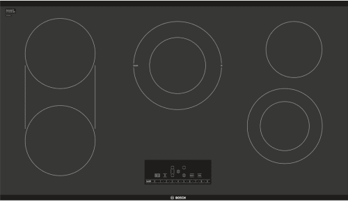 "Bosch 800 Series NET8668UC - 36"" Electric Cooktop, 800 Series - Black Frameless"