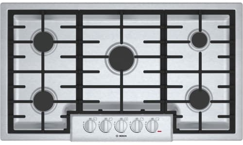 "Bosch 800 Series NGM8655UC - 36"" Gas Cooktop with 5 Sealed Burners"