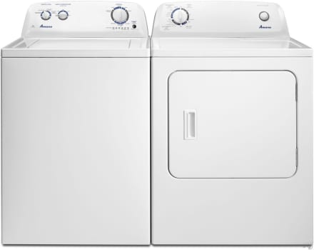 Amana Amwadrew1 Side By Washer Dryer Set With Top Load And Electric In White