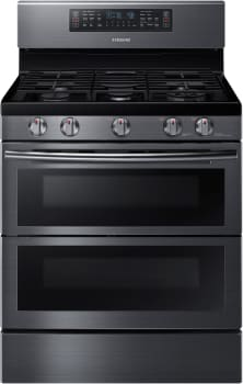 Samsung NX58K7850SG - 5.8 cu. ft. Flex Duo Freestanding Gas Range in Black Stainless Steel with Dual Door and WiFi Connectivity