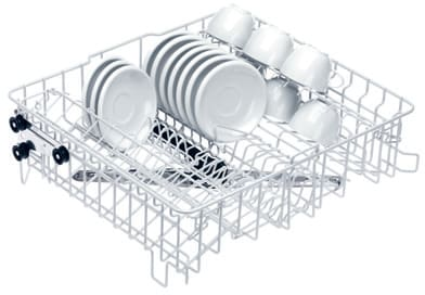 Miele O891 - 2 hinged cup racks for 20 cups with integrated spray arm and rear docking