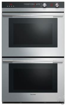 "Fisher & Paykel OB30DXEPX3 - 30"" Double Electric Wall Oven with AeroTech True Convection Cooking (Stainless Steel Finish)"