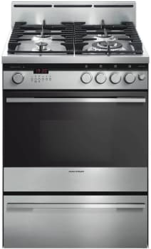 "Fisher & Paykel OR24SDPWGX2 - 24"" Dual Fuel Range with 4 Gas Burners and 1.86 cu. ft. Capacity"