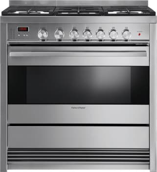 "Fisher & Paykel OR36SDBMX1 - 36"" Gas Range with 3.6 cu. ft. Convection Oven and 5 Cooktop Burners including 2 Dual Burners"
