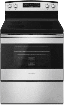 Amana AER6603SFS - 30 Inch Electric Range in Black-on-Stainless from Amana