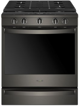 Whirlpool WEG750H0HV - Black Stainless Steel Front View