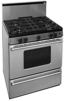 "Premier Pro Series P30B3202PS - 30"" Gas Range with 4 Sealed Burners and 17,000 BTU Oven"