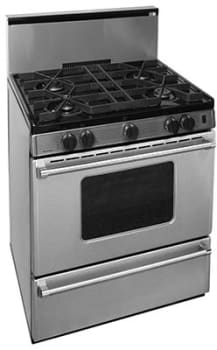 """Premier Pro Series P30S3202PS - 30"""" Gas Range with 4 Sealed Burners"""