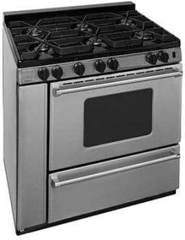 "Premier Pro Series P36B3182PS - 36"" Gas Range with 6 Sealed Burners"