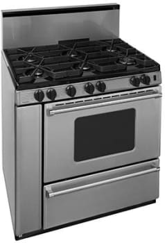 "Premier Pro Series P36B3282PS - 36"" Gas Range with 6 Sealed Burners"