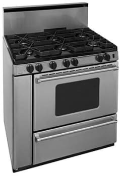 "Premier Pro Series P36S3282PS - 36"" Gas Range with 6 Sealed Burners"