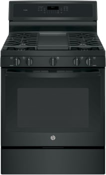 "GE Profile PGB911DEJBB - 30"" Freestanding Gas Range with Integrated Grill/Griddle"