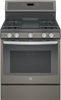 "GE Profile PGB911EEJES - 30"" Freestanding Gas Range with Integrated Grill/Griddle"