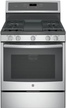 "GE Profile PGB911SEJSS - 30"" Freestanding Gas Range with Integrated Grill/Griddle"
