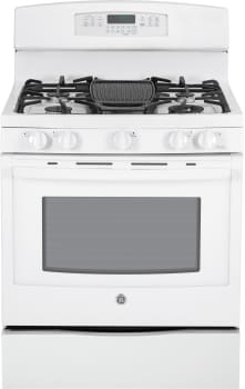 "GE Profile PGB920DEFWW - 30"" Freestanding Gas Range with 5 Sealed Burners"