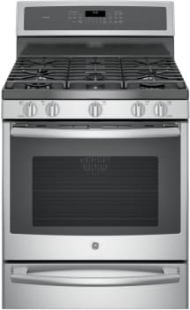 GE Profile PGB940SEJSS - GE Profile Series Gas Range with 5 Sealed Burners Including 20,000 BTU Tri-Ring Burner and Dual-Purpose Center Oval/Round Burner