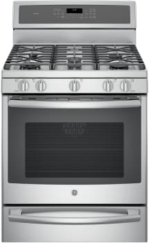 GE Profile PGB940XEJ - GE Profile Series Gas Range with 5 Sealed Burners Including 20,000 BTU Tri-Ring Burner and Dual-Purpose Center Oval/Round Burner